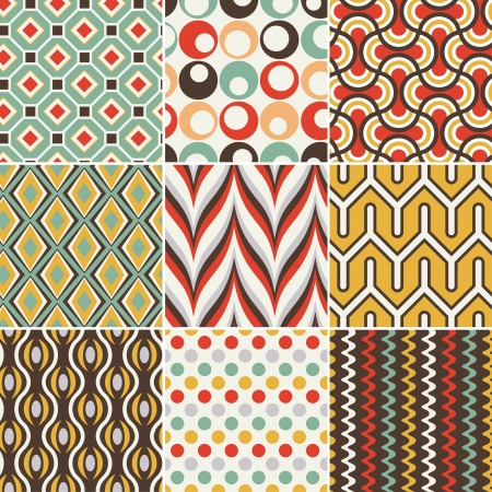 Photo for seamless retro geometric pattern - Royalty Free Image