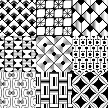 Ilustración de monochrome abstract seamless background  - Imagen libre de derechos