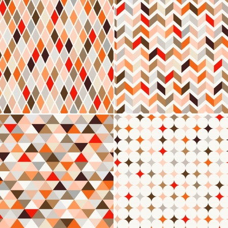 Illustration pour seamless retro pattern background  - image libre de droit