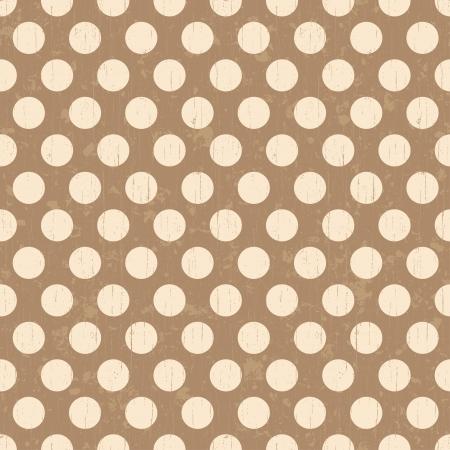 Ilustración de Seamless grunge circles polka dots background texture - Imagen libre de derechos