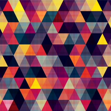 Illustration for seamless triangle background texture - Royalty Free Image