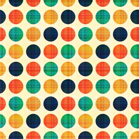 Illustration for seamless abstract polka dots pattern - Royalty Free Image