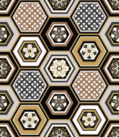 Ilustración de seamless japanese interlocking pattern  - Imagen libre de derechos