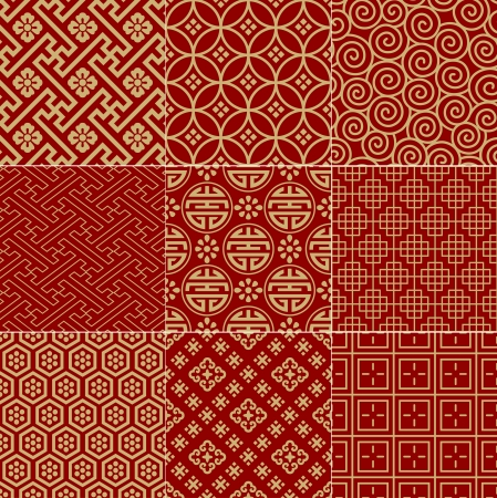 Illustration pour seamless traditional auspicious chinese mesh pattern  - image libre de droit