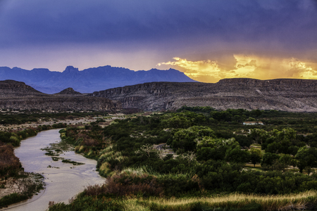 Photo pour Big Bend National Park, sunset - image libre de droit