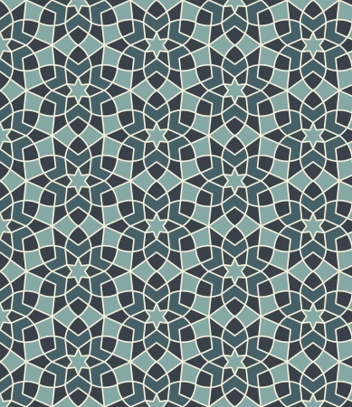 Illustration for Arabesque seamless pattern in editable vector file - Royalty Free Image