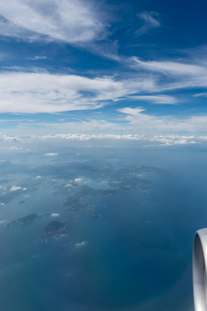 Foto per Aerial view from above Hong Kong - Immagine Royalty Free