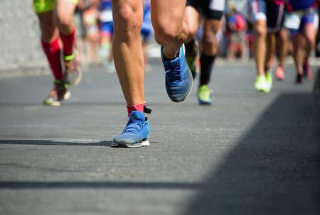 Photo pour Marathon runners - image libre de droit