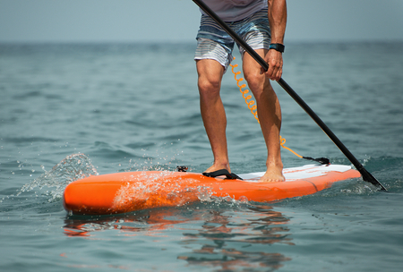 Photo for Stand up paddle board man paddleboarding on ocean - Royalty Free Image
