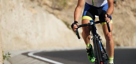 Foto de Road bike cyclist man cycling,athlete on a race cycle - Imagen libre de derechos
