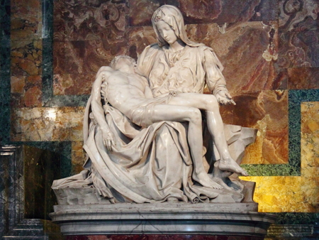 Photo for Vatican Pieta in St. Basil's Cathedral. Petra. - Royalty Free Image