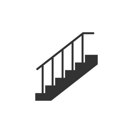 Illustration pour Vector illustration, flat design. Stair up icon - image libre de droit