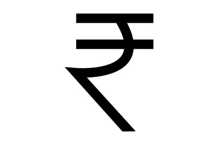 Photo for Indian rupee symbol isolated on white background - Royalty Free Image