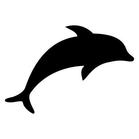 Ilustración de silhouette dolphin illustration  - Imagen libre de derechos