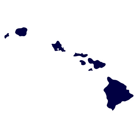Illustration for map of the U S  state of Hawaii - Royalty Free Image