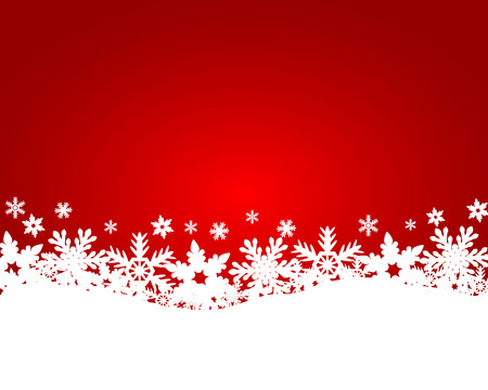 Illustration for Christmas red background - Royalty Free Image