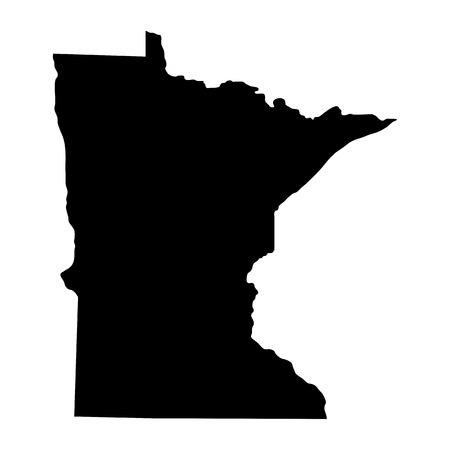 Ilustración de map of the U.S. state of Minnesota - Imagen libre de derechos