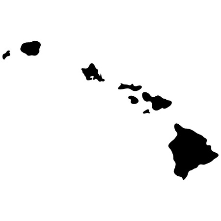 Illustration for map of the U.S. state of Hawaii - Royalty Free Image