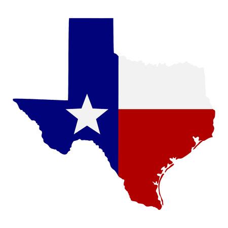 Illustration pour map of the U.S. state of Texas - image libre de droit