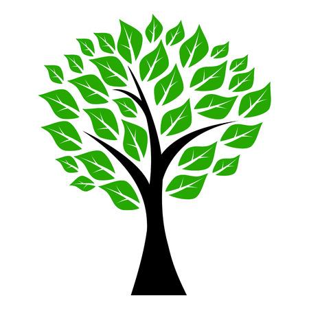 Ilustración de tree with leaves - Imagen libre de derechos