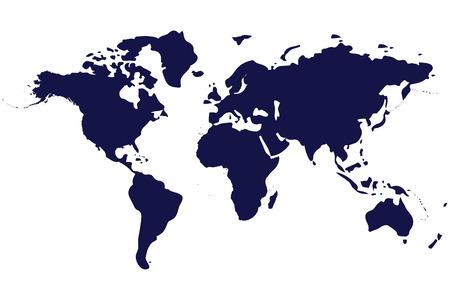Illustration pour world map isolated on white background - image libre de droit