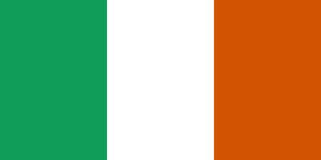 Ilustración de Flag of Ireland close up - Imagen libre de derechos