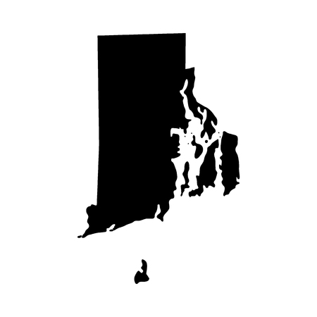 Illustration for map of the U.S. state of Rhode Island Vector illustration. - Royalty Free Image