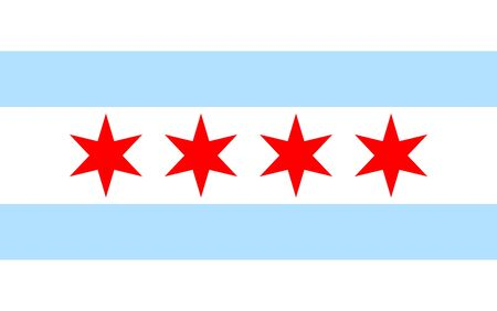 Illustration pour Chicago flag icon - image libre de droit