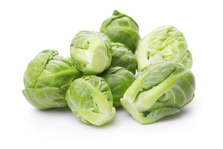 Photo for heap of brussels sprouts isolated on white background - Royalty Free Image