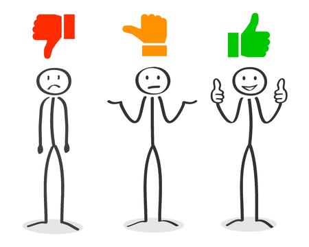 Ilustración de Position: positive, negative, neutral - Imagen libre de derechos