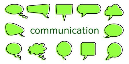Illustration pour Set icons communication - vector - image libre de droit