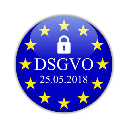 Illustration pour General Data Protection Regulation, in german: Datenschutz Grundverordnung (DSGVO) – for stock - image libre de droit