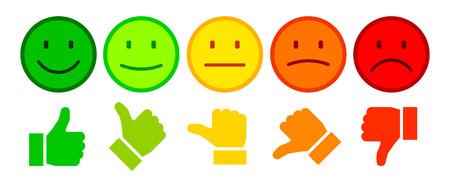 Illustrazione per Valuation by emoticons - Immagini Royalty Free