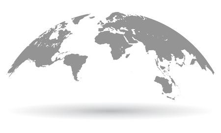 Illustration pour Black world map globe isolated - vector - image libre de droit