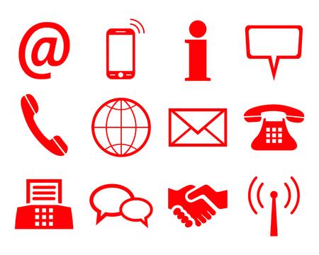 Ilustración de Red contact icons - for stock - Imagen libre de derechos