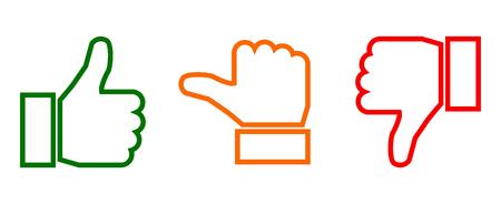 Illustrazione per Valuation thumbs sign - vector - Immagini Royalty Free
