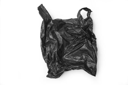 Photo for Black plastic bag isolated on white - Royalty Free Image