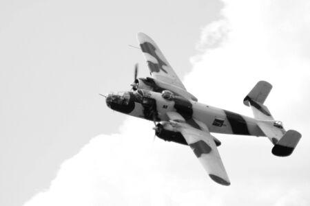 World war 2 bomber at the airshow