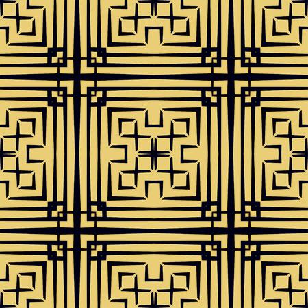 Illustration for Art Deco Pattern. Seamless background. Geometric design. 1920-30s motifs. Luxury vintage illustration - Royalty Free Image