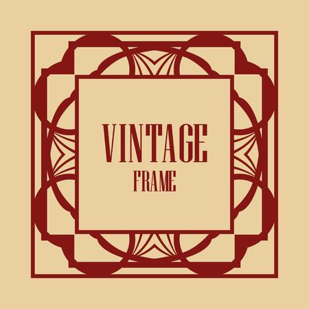 Illustration for Art deco vintage frame design. Vector illustration - Royalty Free Image