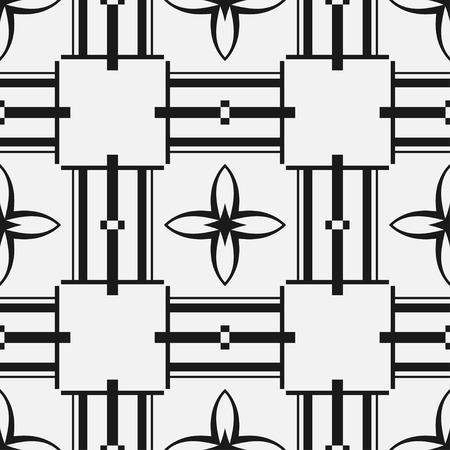 Illustration for Art deco vintage seamless pattern. Retro design vector illustration - Royalty Free Image