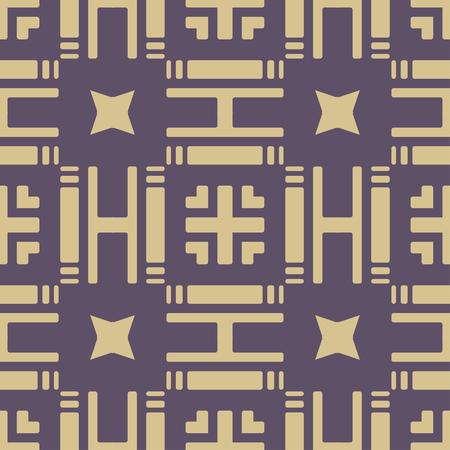Illustration for Art Deco seamless vintage wallpaper pattern. Geometric decorative background - Royalty Free Image