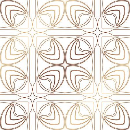 Illustration for Art Deco Pattern. Seamless golden background. Minimalistic geometric design. Vector line design. 1920-30s motifs. Luxury vintage illustration - Royalty Free Image