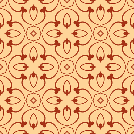 Illustration for Abstract Art Deco Tiles Seamless Vector Pattern. Geometric texture. Repeating background. - Royalty Free Image