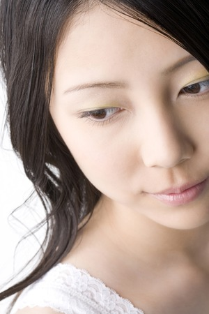 A beautiful Japanese woman's face