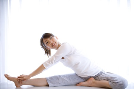 Photo for Woman exercising - Royalty Free Image