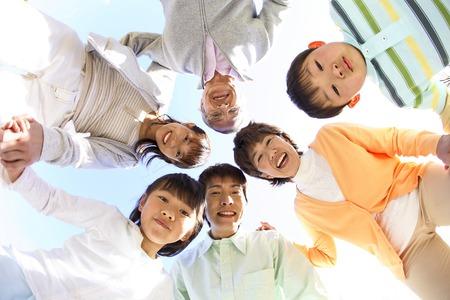 Photo pour Third-generation family portrait. - image libre de droit