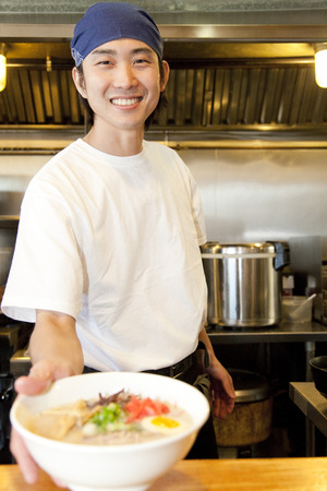 Photo for Ramen shop assistant - Royalty Free Image