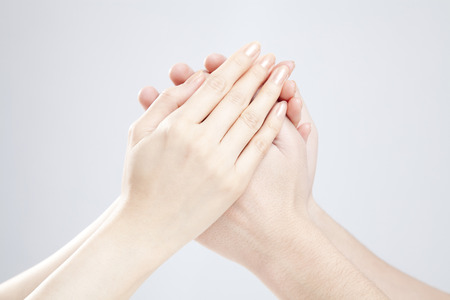 Photo for Men and women who hold the hand - Royalty Free Image