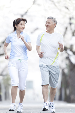 Photo for Senior couple jogging - Royalty Free Image